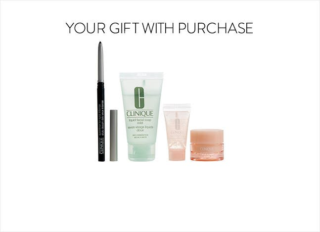 Your Clinique gift with purchase.