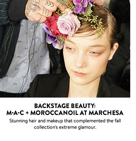 Backstage beauty: MAC and Moroccanoil at Marchesa.