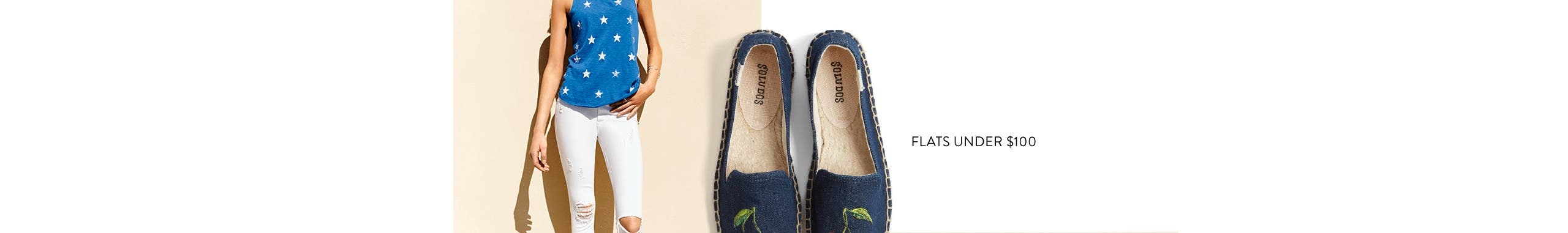 Summer: what to wear all day, every day. Women's flats under $100.
