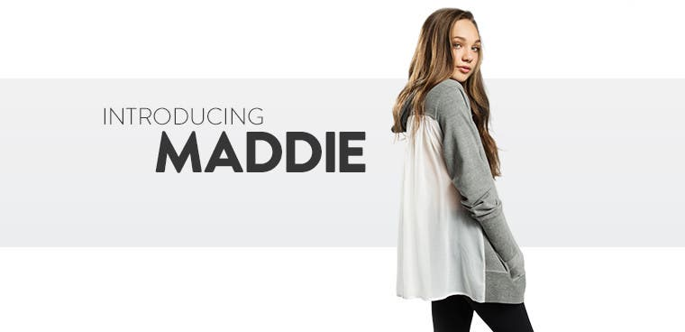 Introducing MADDIE clothing for girls.