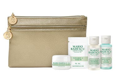Receive a free 5-piece bonus gift with your $55 Mario Badescu purchase