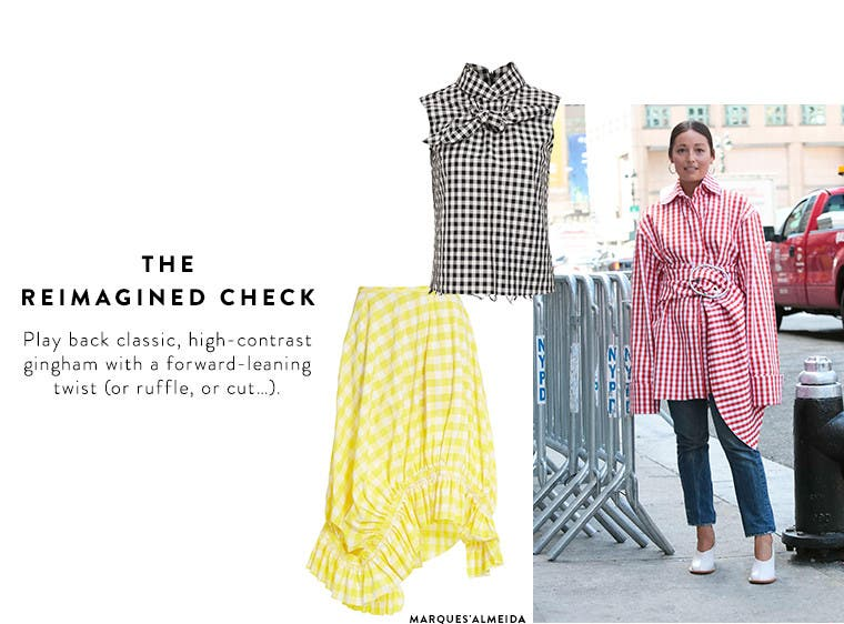 Spring 2017 designer must-have: gingham and check prints.