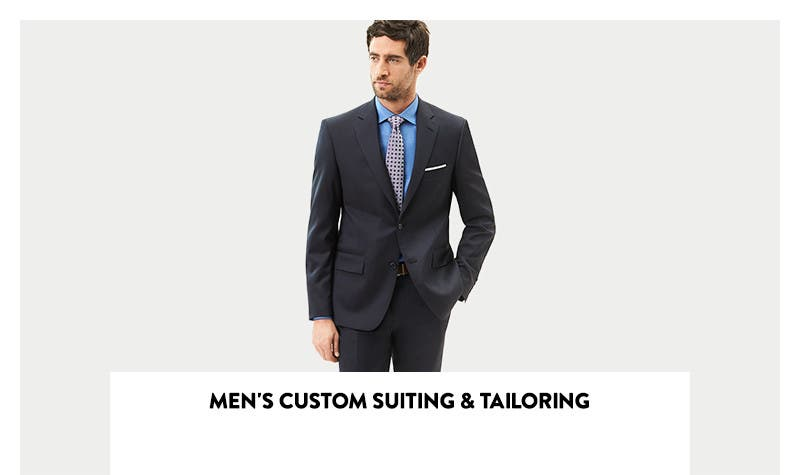 Men's custom suiting and tailoring.