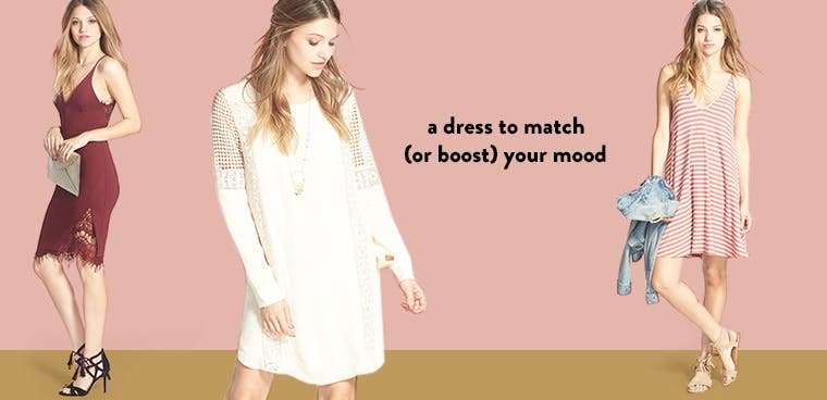 An on-trend dress to match (or boost) your mood.