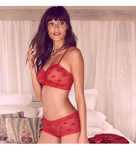 Sexy lingerie for Valentine's Day.