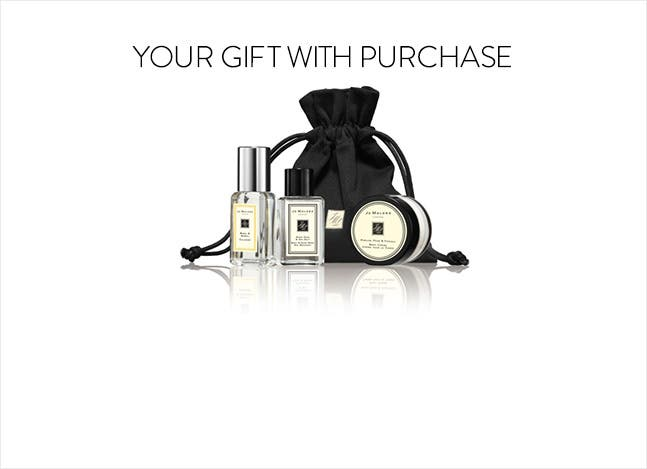 Jo Malone gift with purchase.