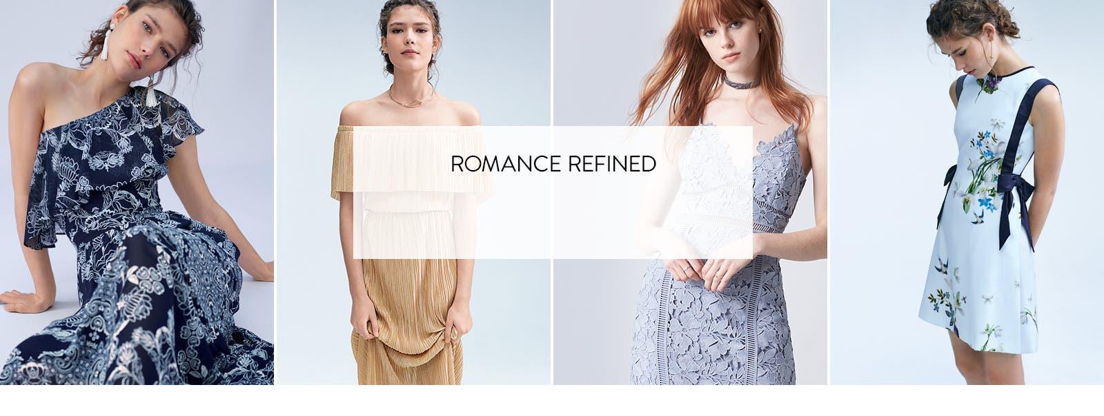 Romance refined: dresses.