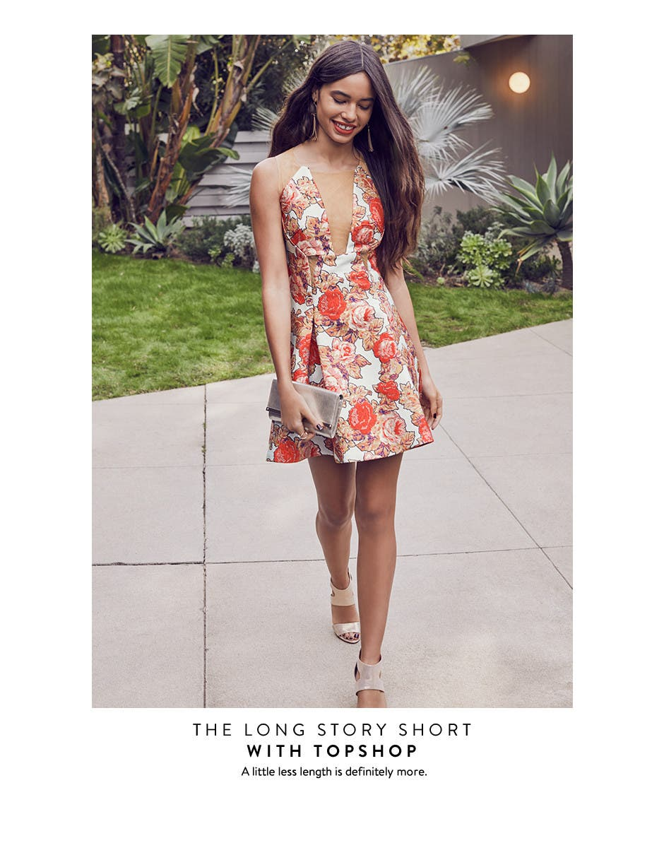 The long story short. Short prom dresses from Topshop and more.