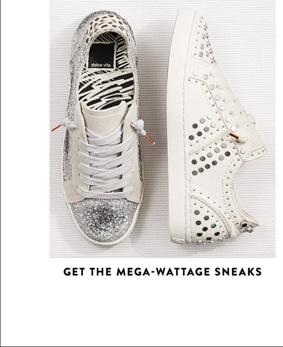 Mega-wattage women's sneakers.