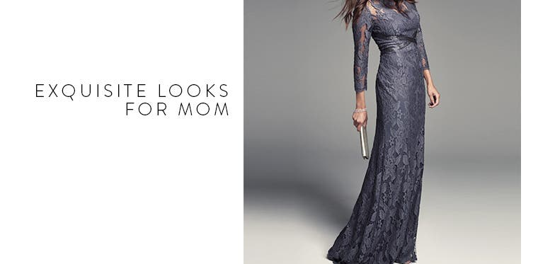Exquisite looks for mom: mother-of-the-bride dresses.