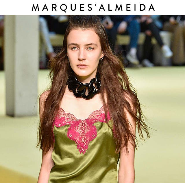 Spring 2017 Fashion Week: Marques'Almeida real girls.