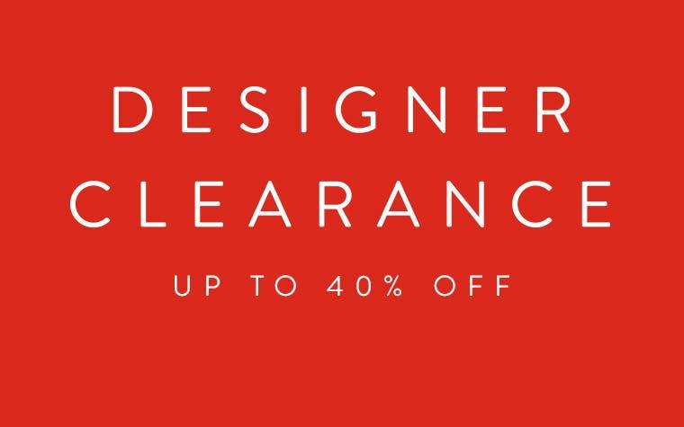 Men's designer clearance. Up to 40% off.