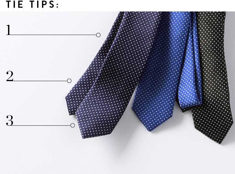 Tips for caring for ties.