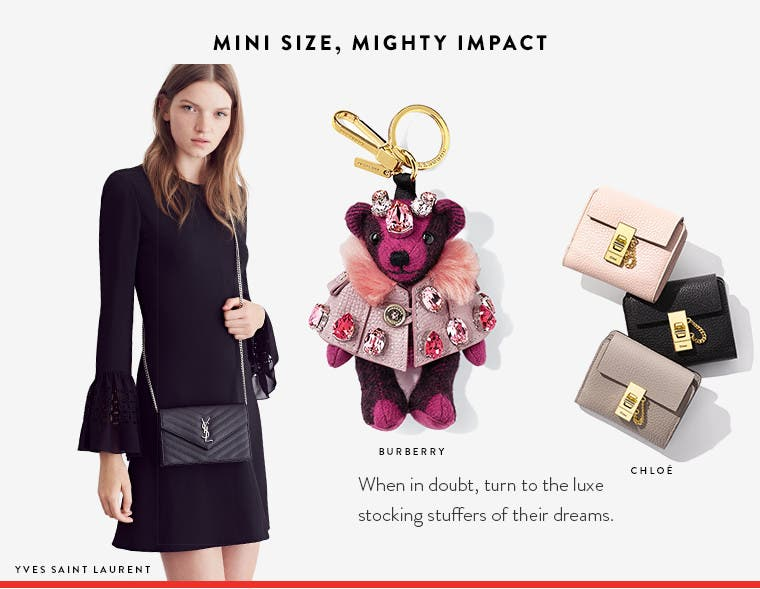 Designer stocking stuffers. Mini size, mighty impact.