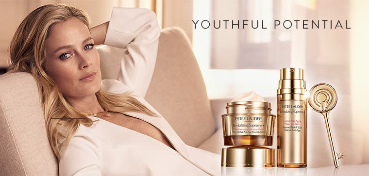 Youthful potential: Estée Lauder skin care.