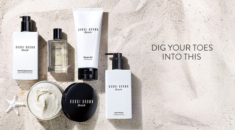 Dig your toes into this: the Bobbi Brown Beach bath and body collection.