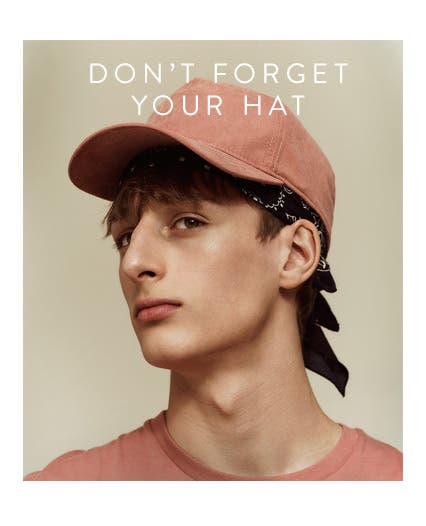 Don't forget your hat: Men's accessories from Topman.
