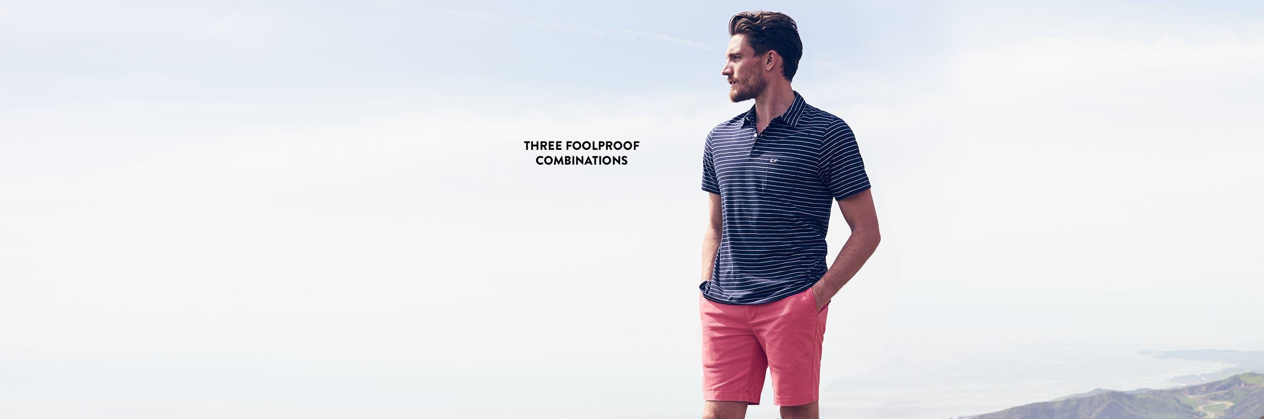 Three foolproof combinations: shorts & polos.