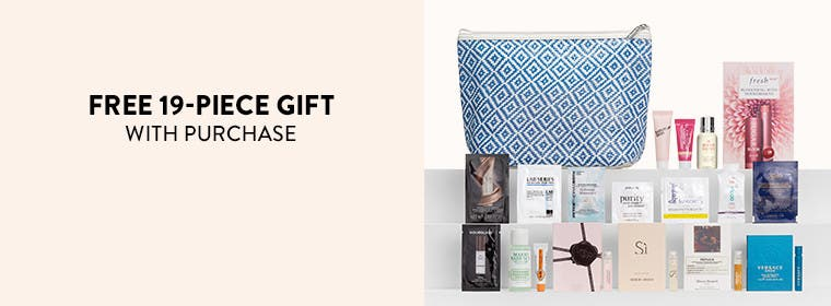 Free 19-piece gift with purchase.