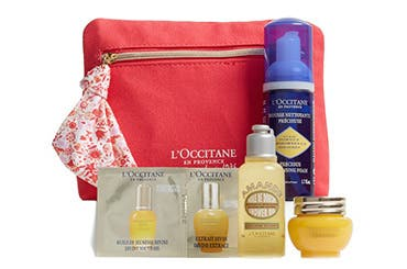 L'Occitane gift with purchase.