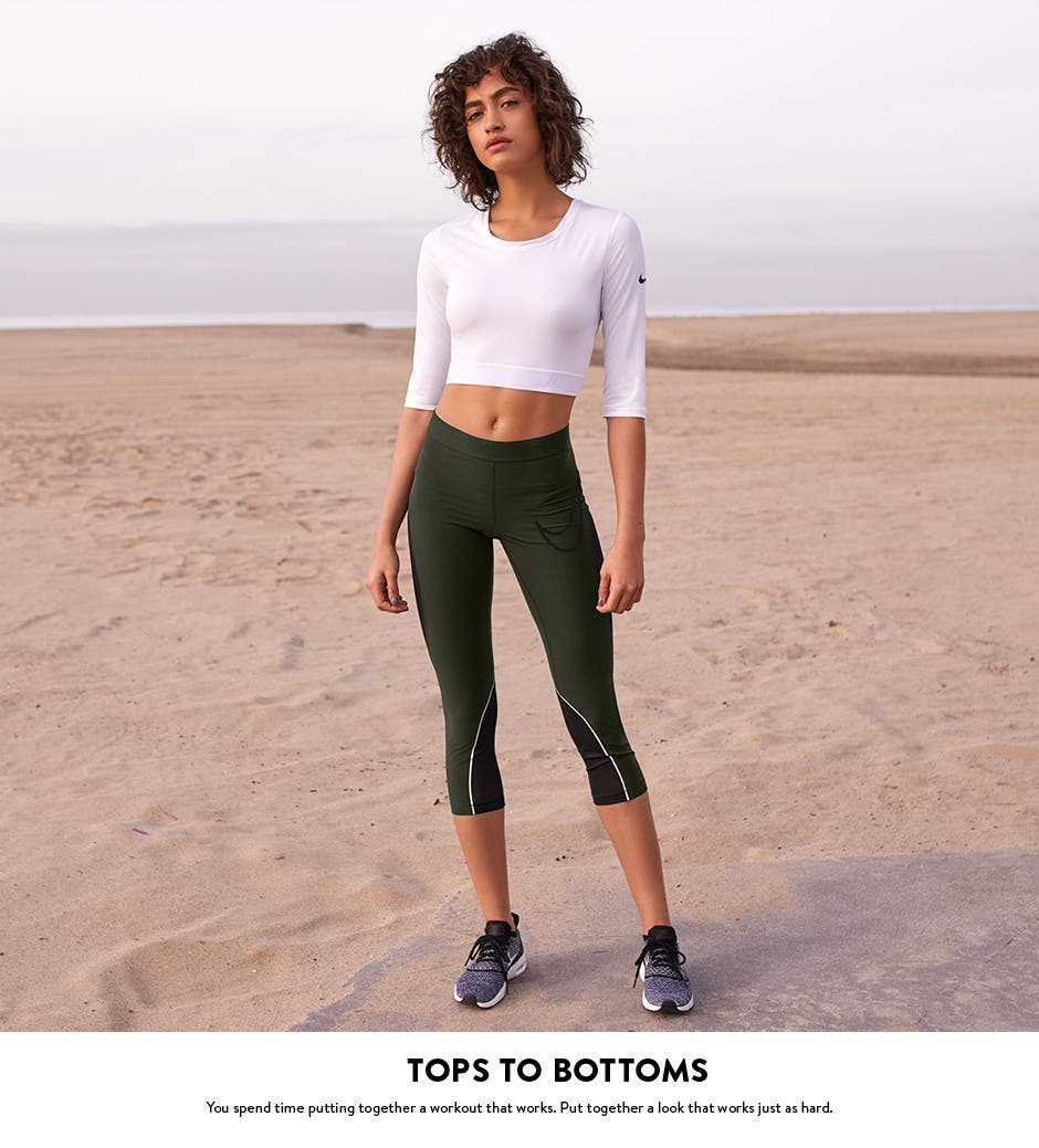 Tops to bottoms: put together a workout look.