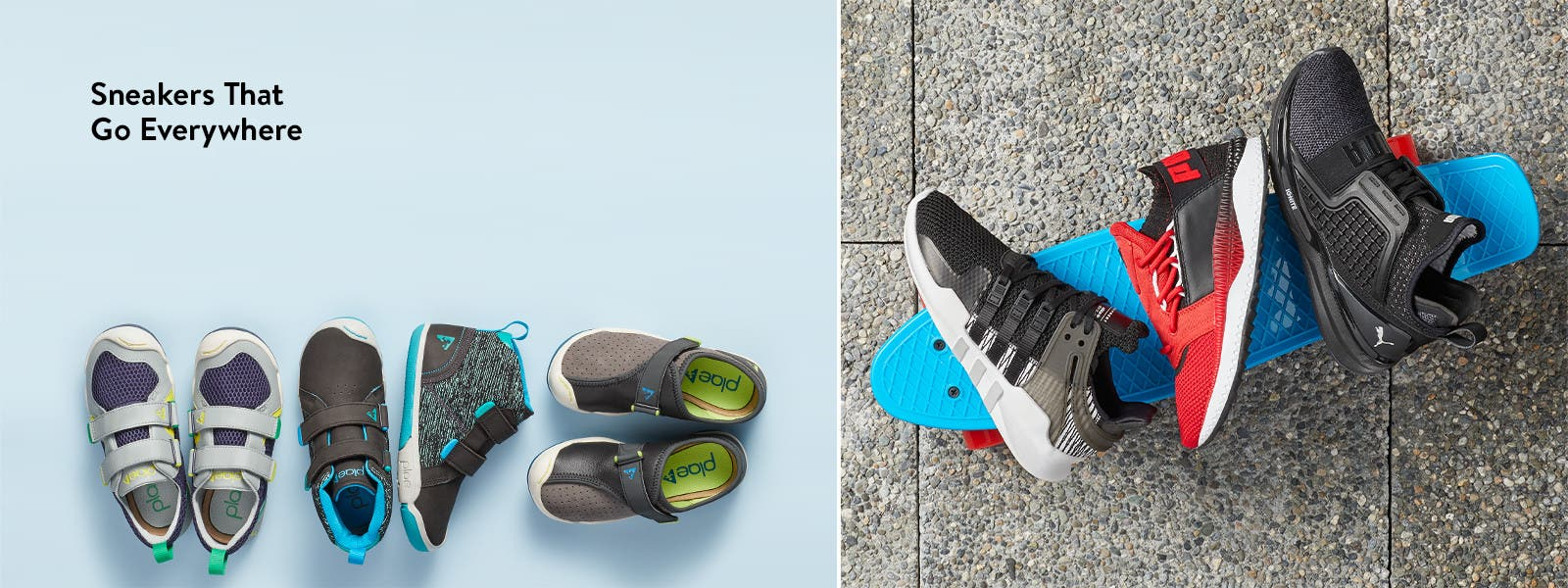 Boys' sneakers that go everywhere.