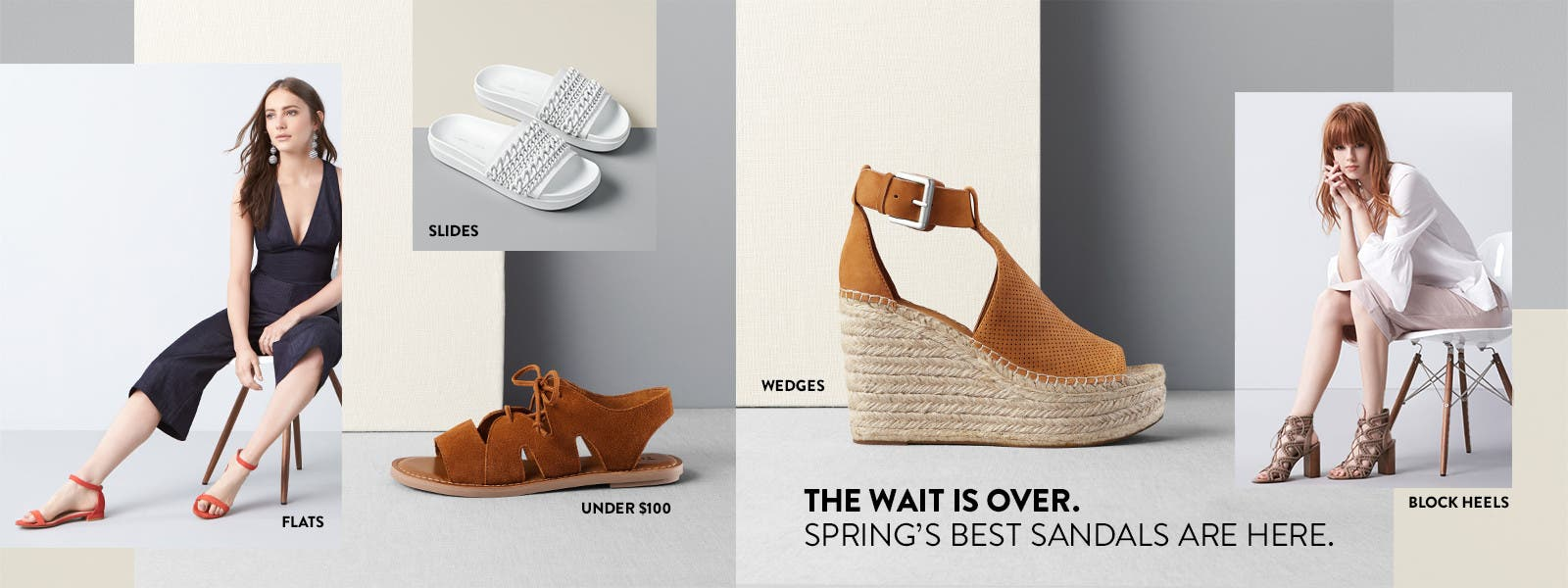 The wait is over. Spring sandals are here.