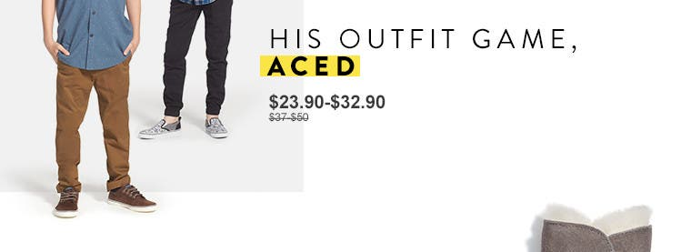His outfit game, aced. Anniversary Sale boys' clothing.