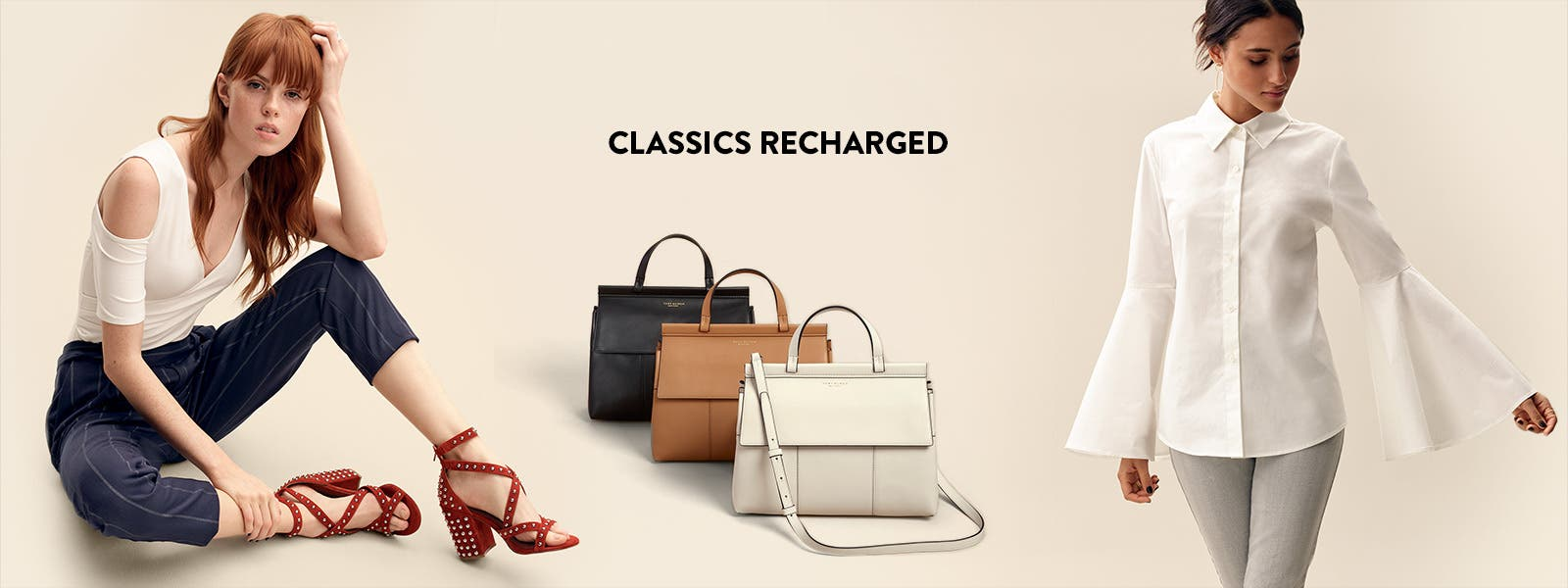Work mode, classic icons: women's work-to-weekend clothing, shoes and accessories.