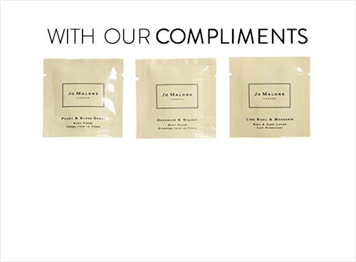 Receive a free 3-piece bonus gift with your $50 Jo Malone purchase