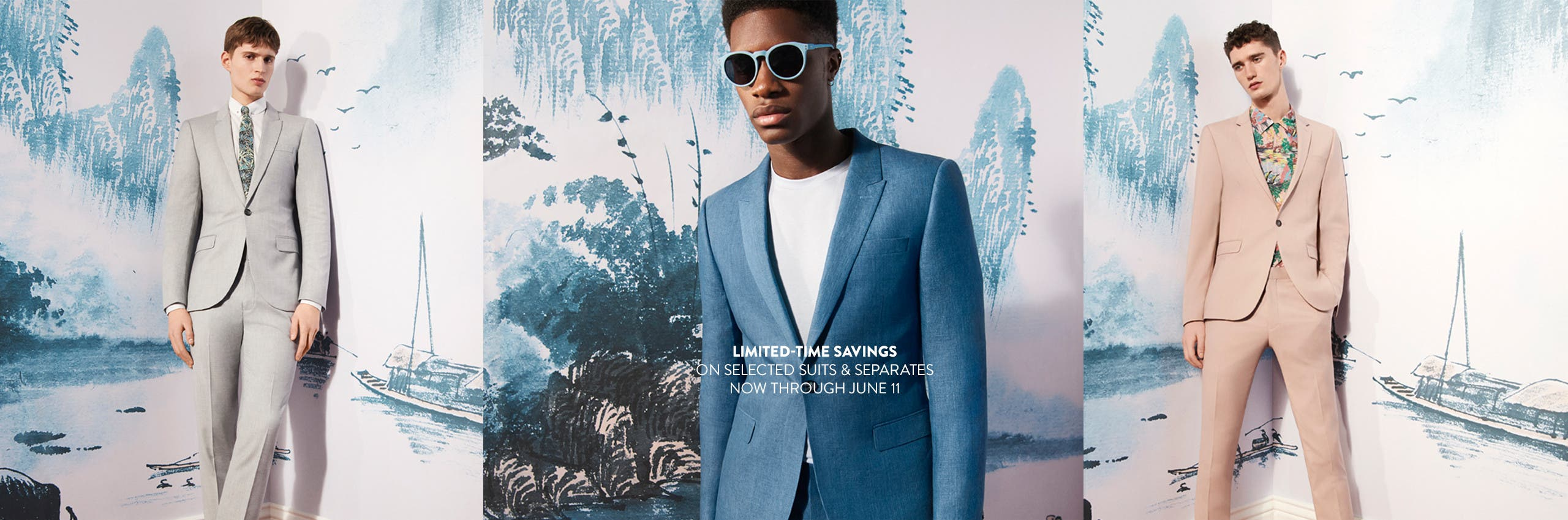 Limited-time savings on selected suits and separates, through June 11.