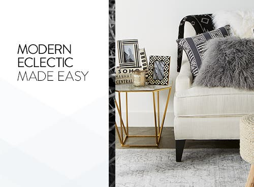 Modern eclectic home decorating made easy.