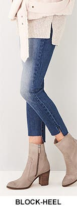 Block-heel boots.