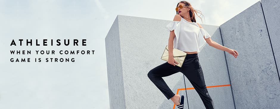 Athleisure trend clothing for women: when your comfort game is strong.