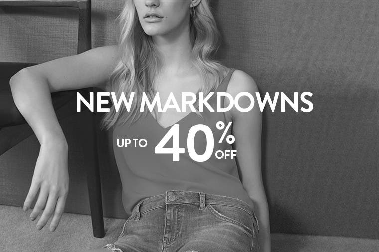 New Topshop markdowns up to 40% off.