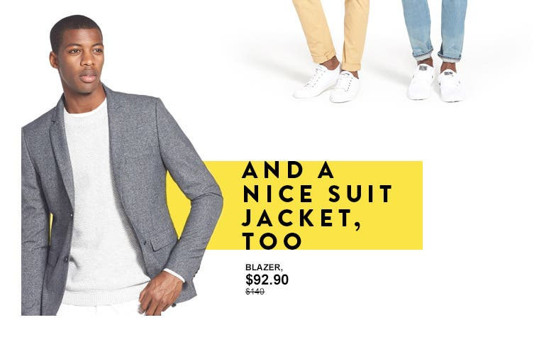And a nice suit jacket too. Suits and separates from Topman.