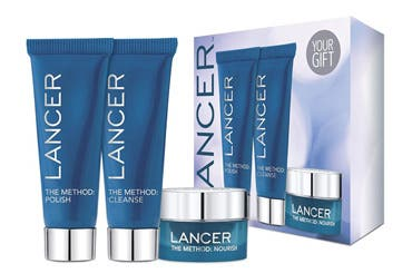 Lancer gift with purchase.