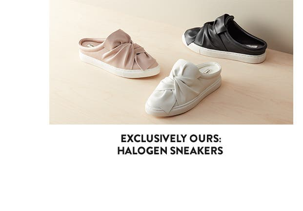 Exclusively ours: Halogen slip-on sneakers.