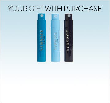 Versace men's fragrance gift with purchase.