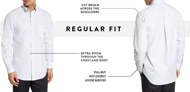 Men's regular fit casual button-down shirts.