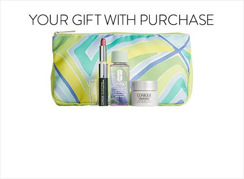 Receive a free 5- piece bonus gift with your $39.5 Clinique purchase
