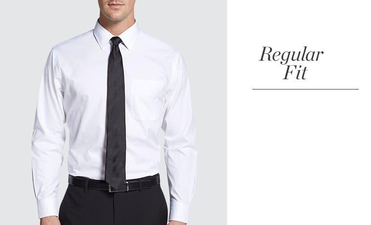 Men 39 s dress shirt measurements fit guide nordstrom for Regular fit dress shirt