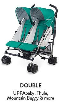 Baby strollers that meet all your needs: standard, umbrella, double and jogging.