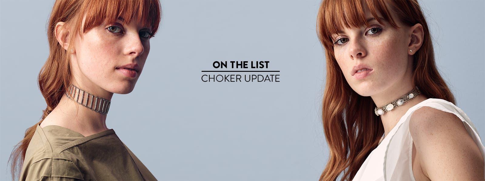 Choker update: versatile choker styles.