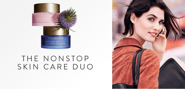 New from Clarins: multi-active day and night creams.