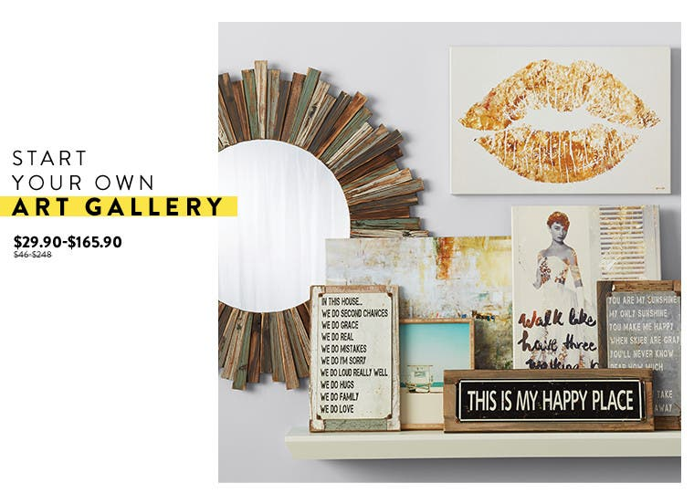 Start your own gallery: art at Anniversary sale.