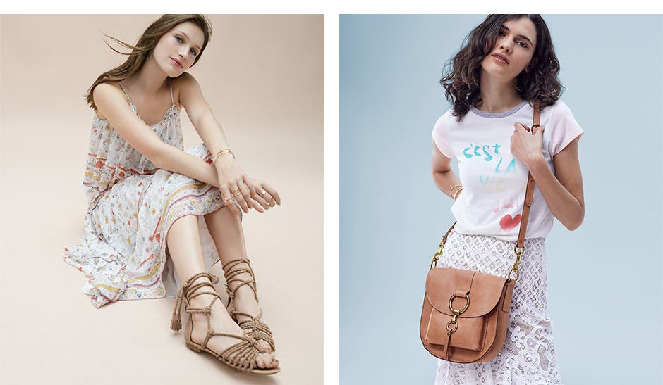 Romance undone: women's feminine and utilitarian clothing, shoes and accessories.