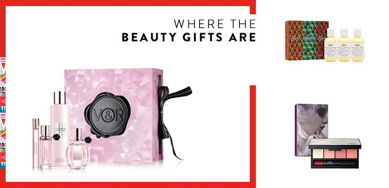 Where the beauty gifts are: beauty and fragrance gift sets.