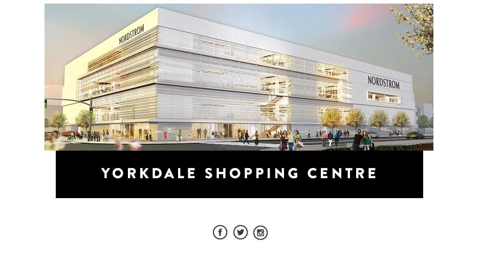 Nordstrom now open at Yorkdale Shopping Centre.
