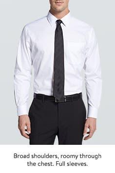 Dress Shirts for Men- Men&-39-s Black Dress Shirts- French Cuff ...